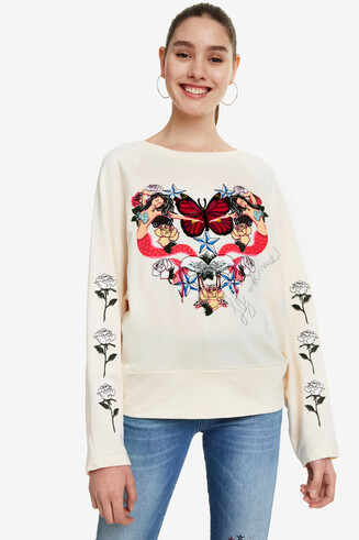 Mermaids Heart Sweatshirt Serene