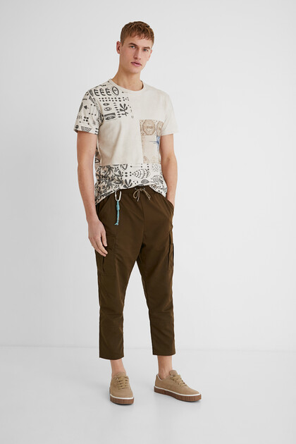 Ankle grazer cargo trousers