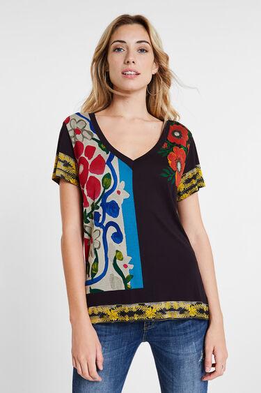 T-shirt slim fleuri | Desigual