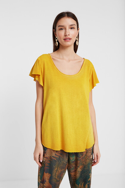 T-shirt design floral dévoré