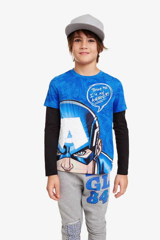 Dubbellaags T-shirt Captain America | Desigual