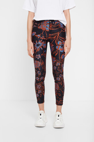 Cropped trousers floral