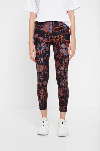 Pantalon chevilles fleuri