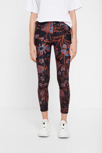 Pantalon skinny floral