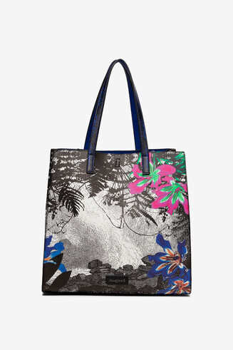 2 in 1 landscape and floral bag