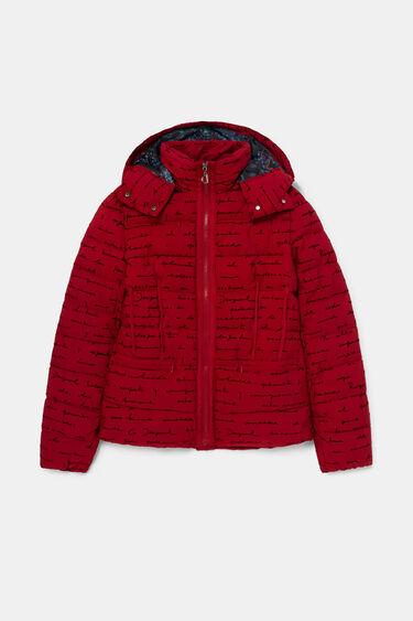 Slim written short jacket | Desigual