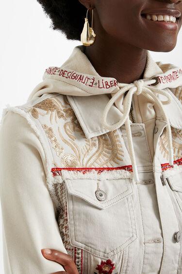Slim hooded denim jacket | Desigual