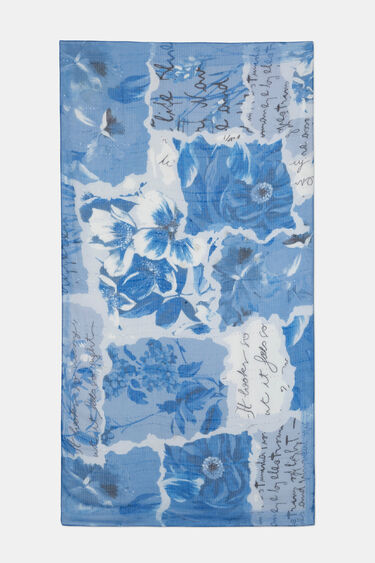 Foulard rectangular patch tropical | Desigual