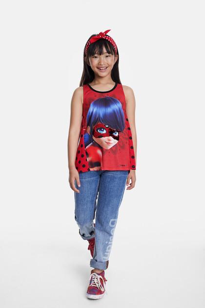 T-shirt à paillettes réversibles Ladybug