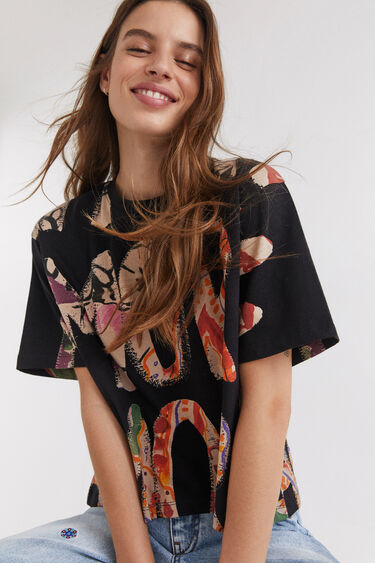 T-shirt amore 100% algodão   Desigual