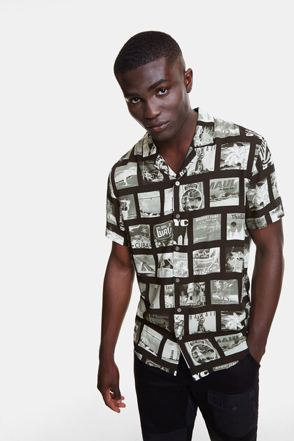 Shirt with photo-postcard