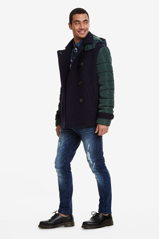 Double breasted parka   Desigual