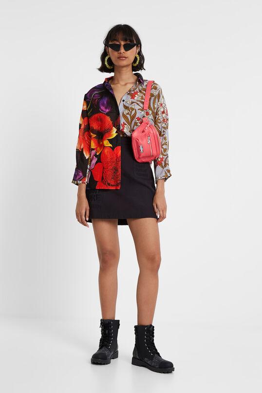 Silk and cotton asymmetric blouse Designed by M. Christian Lacroix   Desigual