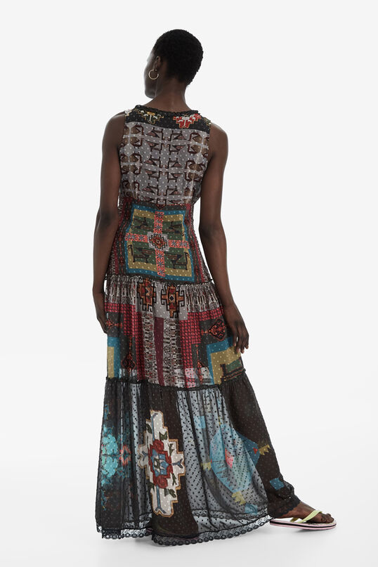 Long Ethnic Print Dress Nicole | Desigual