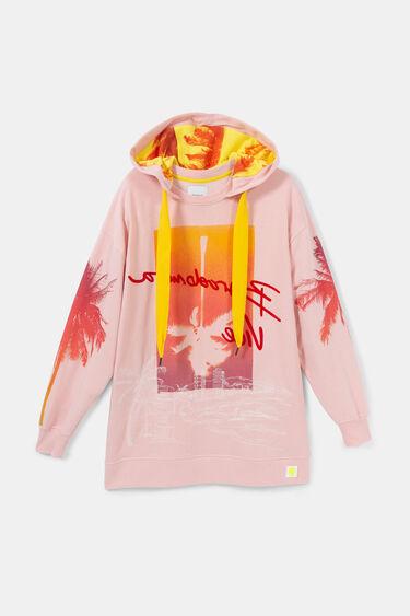 Długa bluza oversize w stylu hawajskim | Desigual