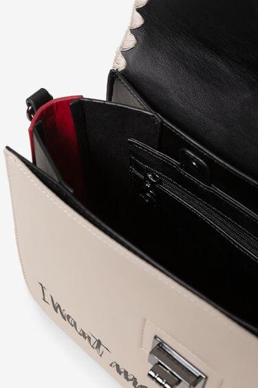 Sling bag flap hook and eye closure | Desigual