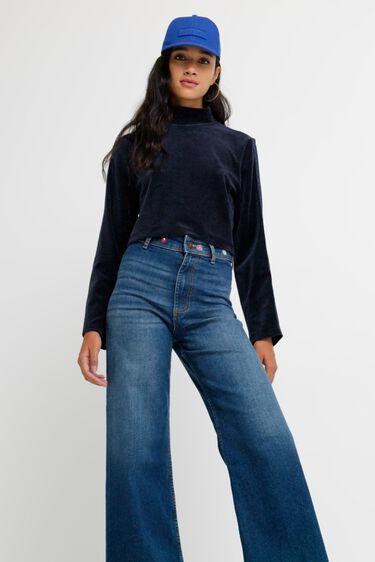 Pantalon en jean chevilles jambe large | Desigual