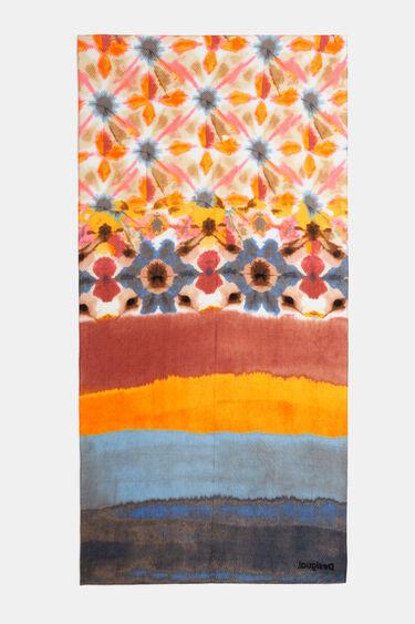 Foulard rectangulaire plissé | Desigual