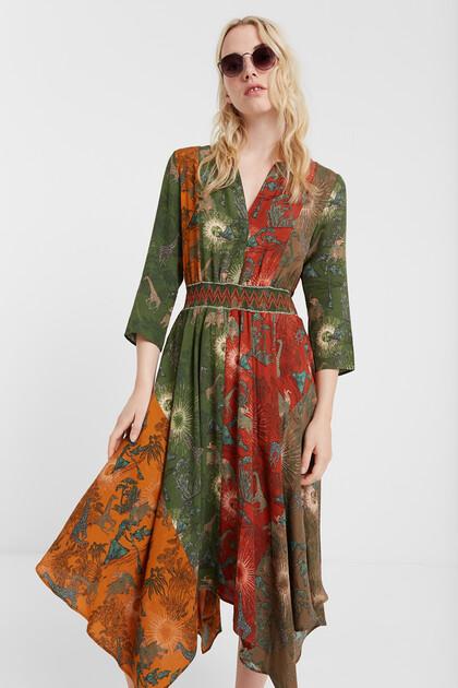 Robe ethnique asymétrique