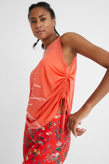 T-shirt gathered sides | Desigual