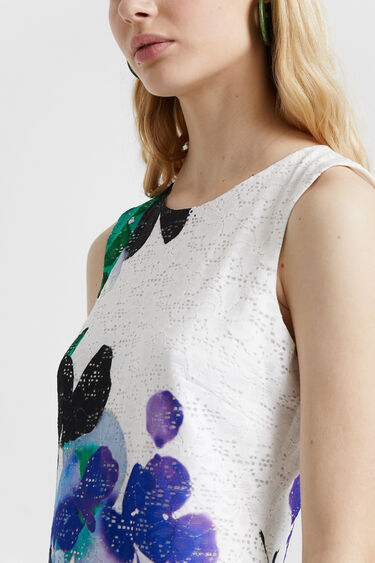 Lace and flowers dress | Desigual