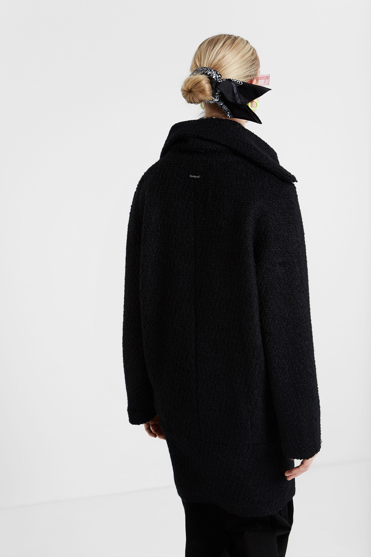Manteau desigual col laine   Philippedorleans