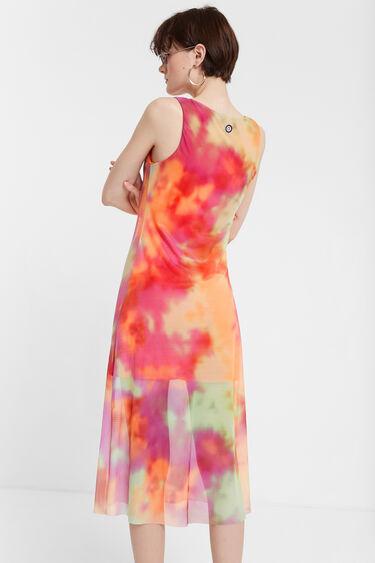 Vestit evasé doble capa tie-dye | Desigual