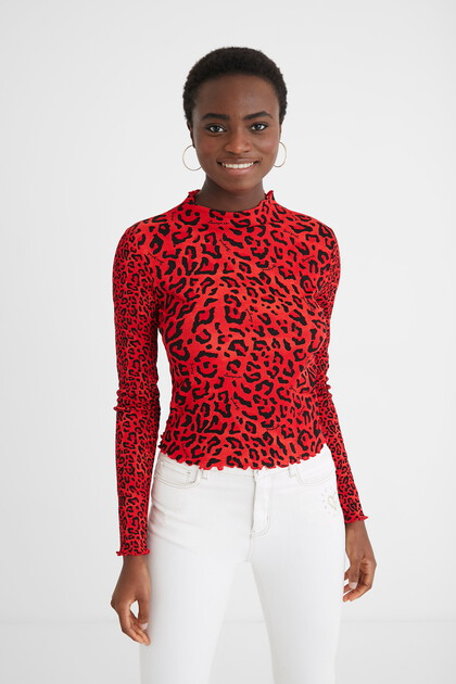 Slim-fit leopard T-shirt