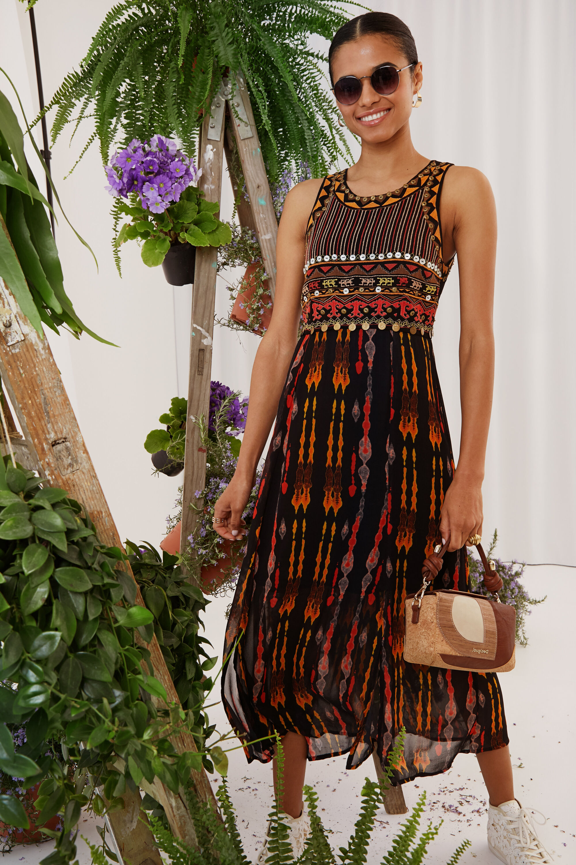 Desigual Vestito longuette stile africano