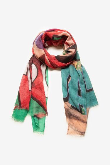Rectangular lettering print scarf | Desigual