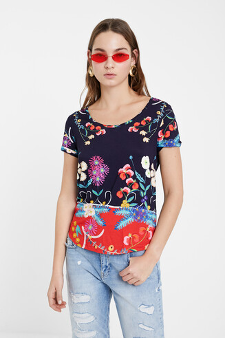 Tropical floral print T-shirt