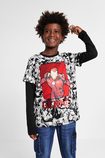 Comic T-shirt reversible sequins