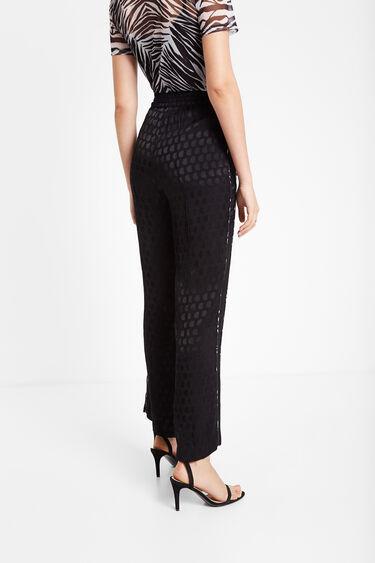 Trousers in glossy logomania | Desigual