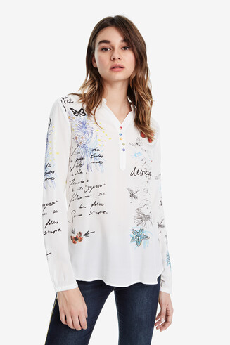 Butterfly print blouse - Elsa