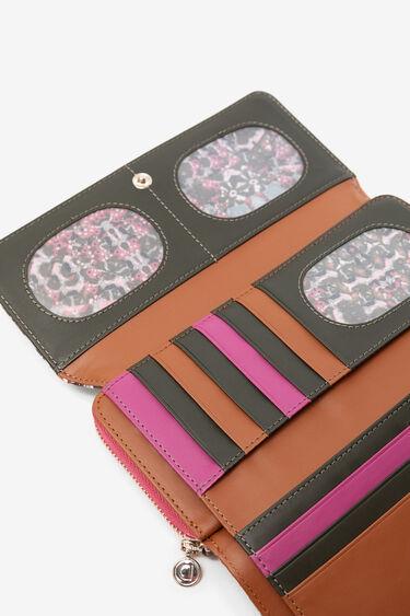 Caleidoscopische portemonnee met flap | Desigual