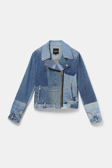 Upcycled denim biker jacket | Desigual