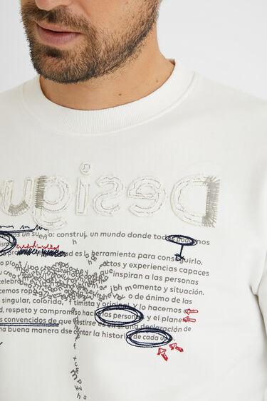 メッセージ スウェットシャツ | Desigual