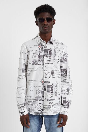 Camisa lettering e ilustrações | Desigual