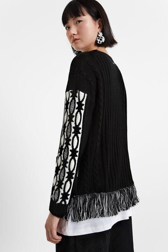 Jersei serrells Black & White | Desigual