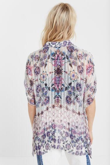 Kurzärmlige Boho-Bluse | Desigual