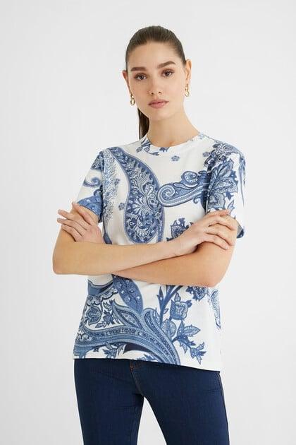 T-shirt short sleeve paisley