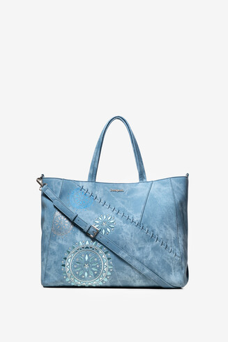 Mandala Denim Patch Bag Cella