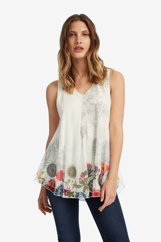 White Floral T-shirt Laura