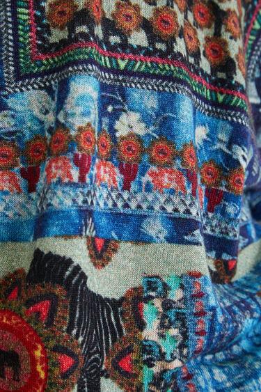 Dünner Pullover Muster V-Ausschnitt | Desigual