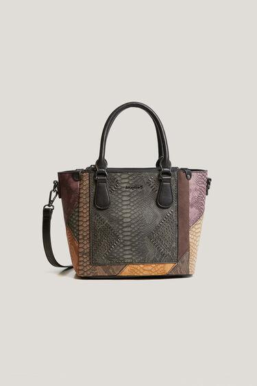 Square double handle bag | Desigual