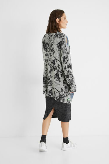 Oversize open tricot jumper | Desigual