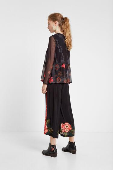 See-through floral T-shirt | Desigual