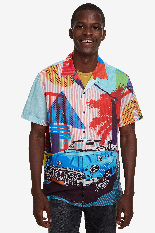 Cuba resort shirt - RED - M