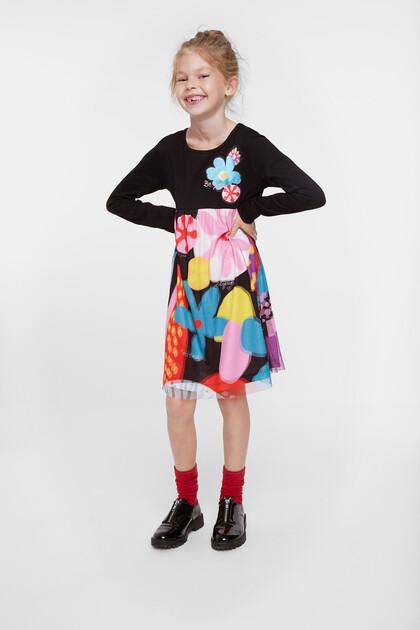 Floral high waist dress