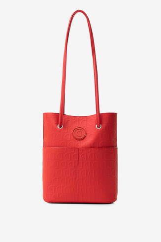 Red 2 in 1 bag in logomania